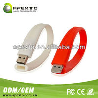 Care USB colorful USB 2.0 silicone usb medical id bracelet
