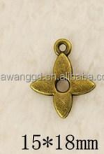 Whosale four leaf clover charms pendant for earrring,bracelet,hair accessories