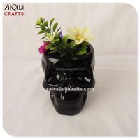 Unique custom design ceramic skull face flower pot Mini planters Succulent pots