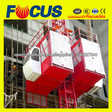 Estante de engranaje tipo construcción hoist construction elevator construction lifter material hoist material ascensor