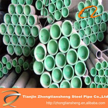 Polyurethane lined green steel pipe,lining plastic bule steel pipes,ube
