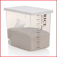 Japanese 16L Style Plastic Rice Storage Container Holds 15kgs Rice