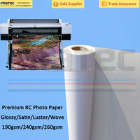 Hot sale Microporous 260gsm RC high glossy photo paper manufacturer