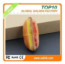 Wholesale usb flash drive, PVC hotdog shape usb 512gb flash drive