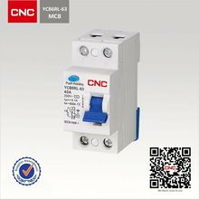 Controlling and Switching Residual earth leakage circuit breaker 63A YCB6RL-63 with Overload