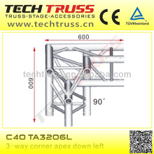 C40-TA3206L high quality corner apex down left, length 600mm professional truss corner for truss connecting