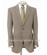 Wholesale Made In China Executive 2-Button Wool Suit with Center Vent and Plain Front Trousers Cheap Men's Suit