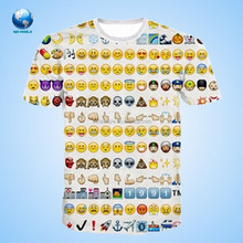2015 Bigworld Various Funny Expression 3d T-Shirt printing