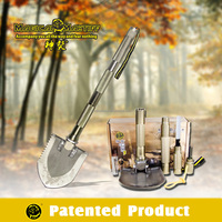 2015 Practicle Outdoor Equipments/Multifunctional Shovel Hammer Hoe Cutter Knife Screwdriver Flint Whistle/Outdoor Survival Kits