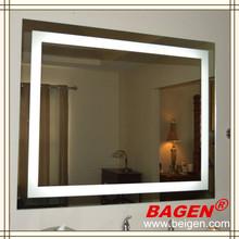 Modern bathroom LED light mirror BGL-008 illuminating mirror, 16 years supply for hotels
