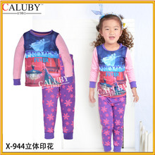 Newest clothes kid pajamas for girls and girls 2015 TV frozen fever costume