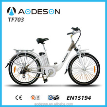 26inch Electric bicycle lady bike TF703,with Tourney 7 speed,brushless gear motor