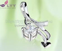 beautiful 925 sterling silver pendant, arrowhead pendant heart shape