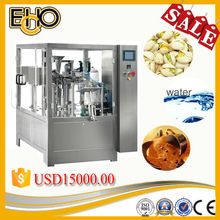 Most popular multi function rotary Fig Pre-made Bag Palm Oil fill and seal bag packer