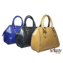 Lelany fashion OL double usages tote bag in genuine leather with long shoulder strap
