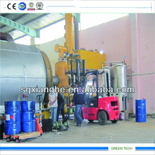 12tons continous pyrolysis oil refinery plant from waste rubber/mixed waste plastic/paper mill/