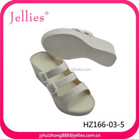 Fashion plastic high heels shoes for lady