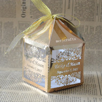 wedding luxury favor boxes/carriage wedding favor gift box,gold quran wedding gift
