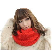 Wholesale 16 color choice 2015 unique sunflowers latest design warm wool winter knit fashion scarf women