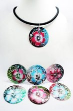Jewelry Gemstones Collections Assorted Hand Painted Hibiscus Flower