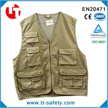 sleeveless many pockets men's work vest,multi pockets men's work vest