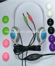 3.5mm manos libres estéreo de auriculares para ordenadorheaphones suministrados por la fábrica directa hecha en china