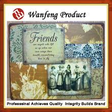 Metal Aluminium coating oil paintings Bar Decors Vintage metal Tin Painting
