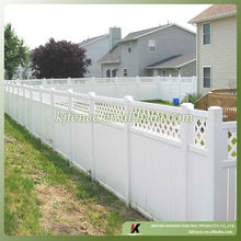 Vinyl Privacy Fence with Lattice