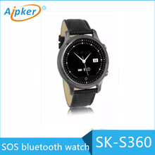 Aipker best selling bluetooth waterproof prefect round design of bluetooth watch
