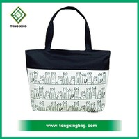 Promotional beautiful fashion cotton canvas lady's shopping tote bag
