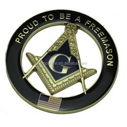 3D die cast masonic freemason car emblem