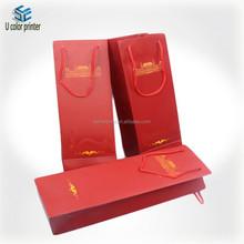 U color Customized wine bottle case carrier holder bag