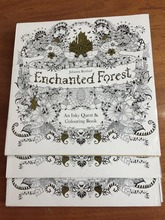 Castle Gilding enchanted forest coloring books/adults drawing books/secret painting books