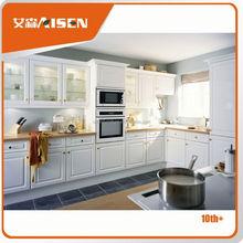 Advanced Germany machines factory directly customized pvc beech hotel wood kitchen furniture