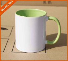 Hot Selling Directly Factory Sunmeta High Quality Sublimation Coated Blank Inner Inside Color Mug 11OZ