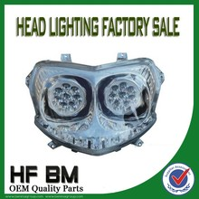Bajaj Pulsar 180 Motorcycle Headlight/Motorcycle Double LED Headlight