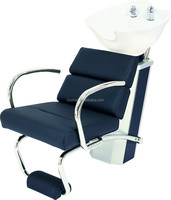 2015 Factory direct sale cheap salon wash basin and chair/hair spa washing chair with footrest