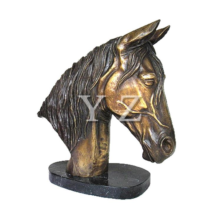 Testa di cavallo in bronzo statua busto( BFS- a001)