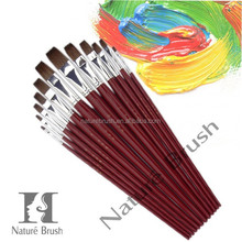 flat or round point pony hair paint brush