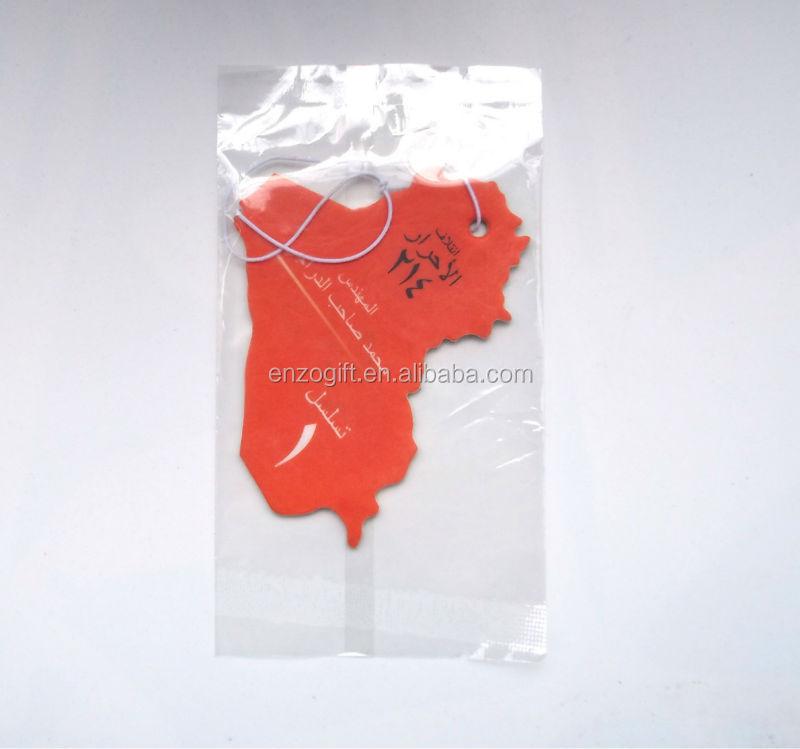 Hanging Paper Air Freshener for promotion, Custom Paper Car Air Fresheners