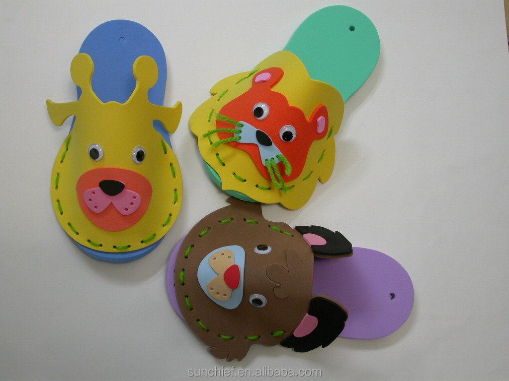 bricolage mousse pantoufles artisanales pantoufles id du produit 228856114. Black Bedroom Furniture Sets. Home Design Ideas