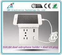 5V4800mA dual usb power America Standard wall plug USA Wall Socket US standard power point fast charging power supply