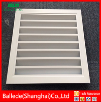 Aluminium air ventilation fixed air louver grille for hvac system
