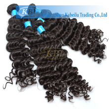 brazilian huaman virgin hair curly wave 100% nature color