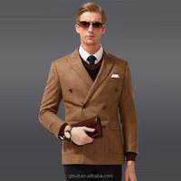 50% wool Orange double breast two button fashion russian winter coat