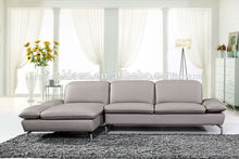 8090 moderno sofá de cuero genuino de las imágenes de muebles finos