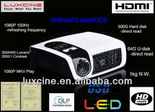 New Year Promotion!!! C5 1080p mini projector for home theater