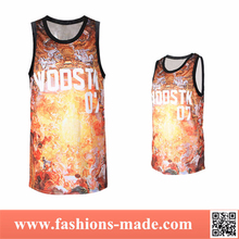 2015 New Street Fashion Digital Printing Basketball Jersey
