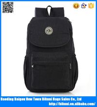 New Fashionable waterproof back bags cotton fabric laptop backpack for men