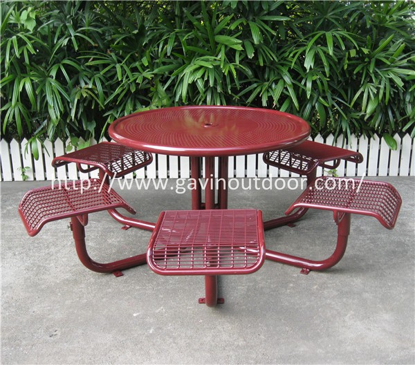 Metal Round Picnic Table Target Outdoor Patio Furniture Buy Target - Metal picnic table with umbrella